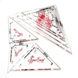 Набор лекал для создания прям. треугольников, 8 размеров