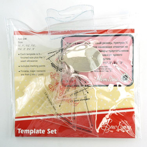 Набор лекал для создания треугольников, 8 размеров