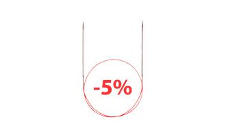 Скидка 5% на круговые спицы Addi при покупке органайзера