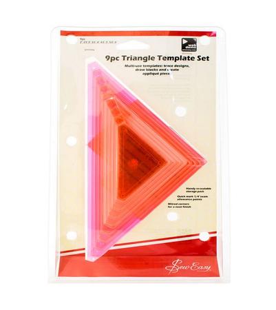 Набор универсальных треугольников, 9 размеров