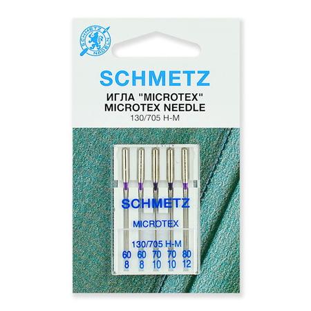 Иглы микротекс (особо острые) №60, 70, 80, Schmetz-22.31.MA2.V4S