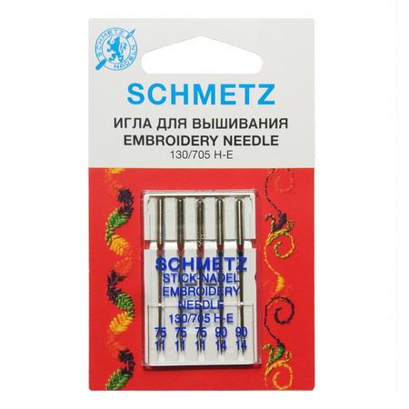 Иглы для вышивки №75,  №90, Schmetz-22:70.EB2.V3S