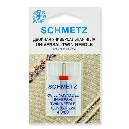 Иглы универсальные двойные № 80/4.0, Schmetz-70.40.2.SCS