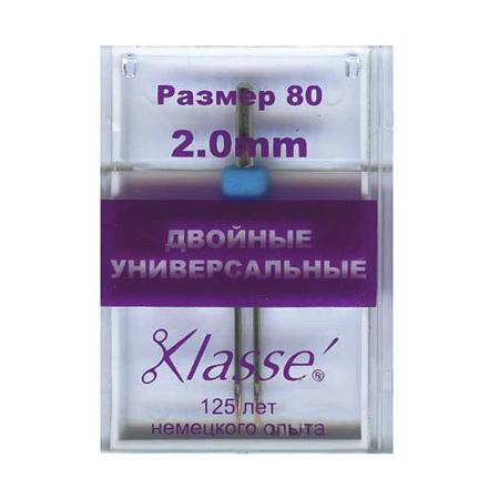 Иглы машинные универсальные двойные № 80/12 - 2 мм